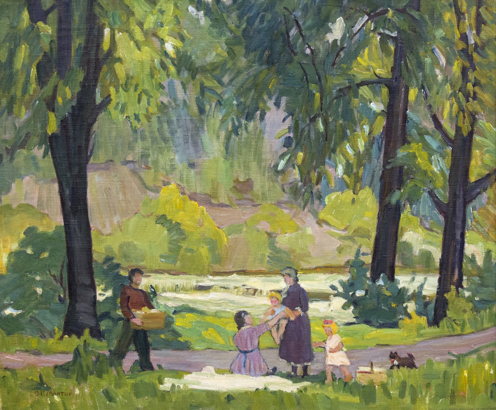 Picnic on the Humber by Bernice Martin » Oeno Gallery on