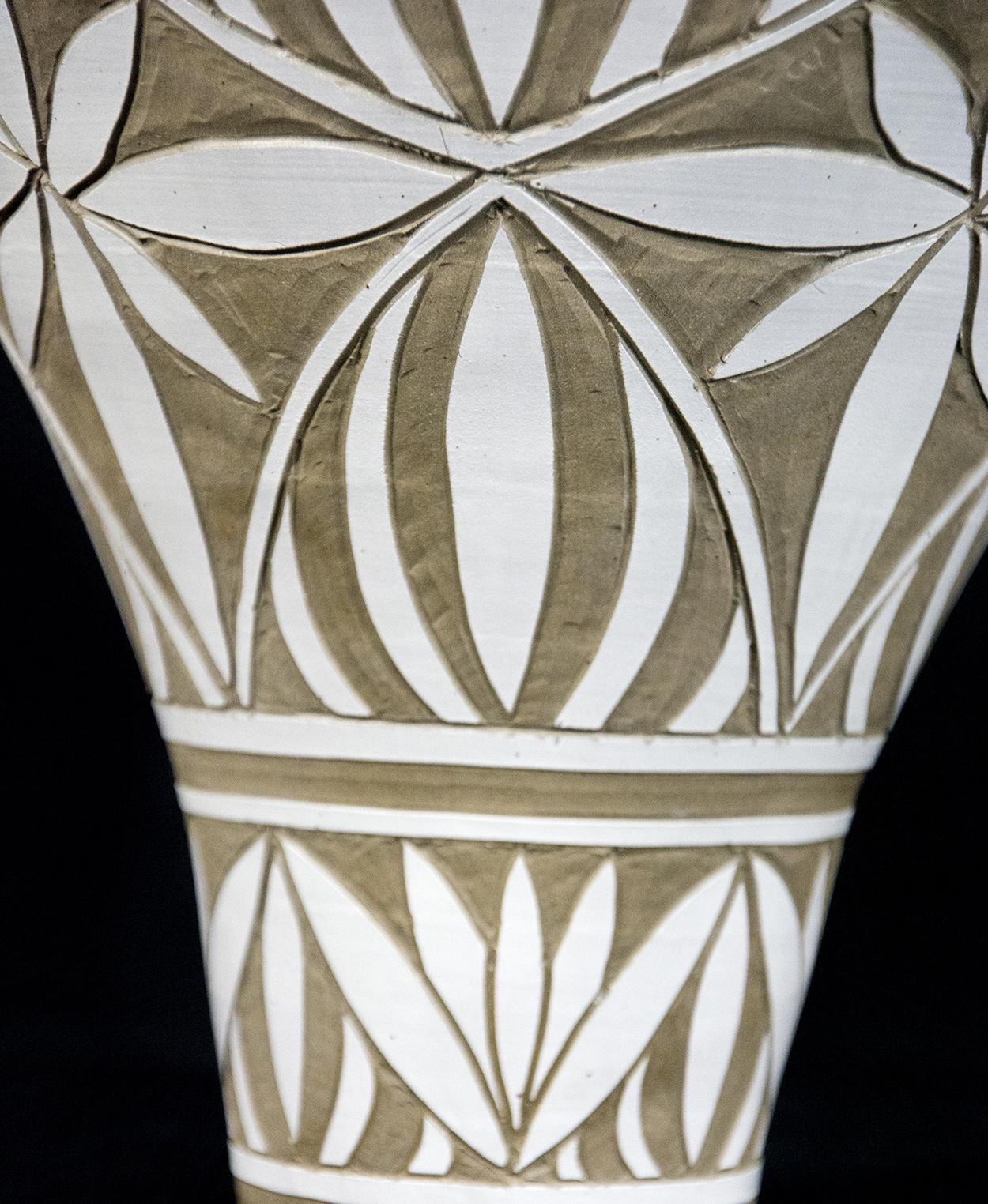 Medium Engraved Ginger Jar by Loren Kaplan » Oeno Gallery