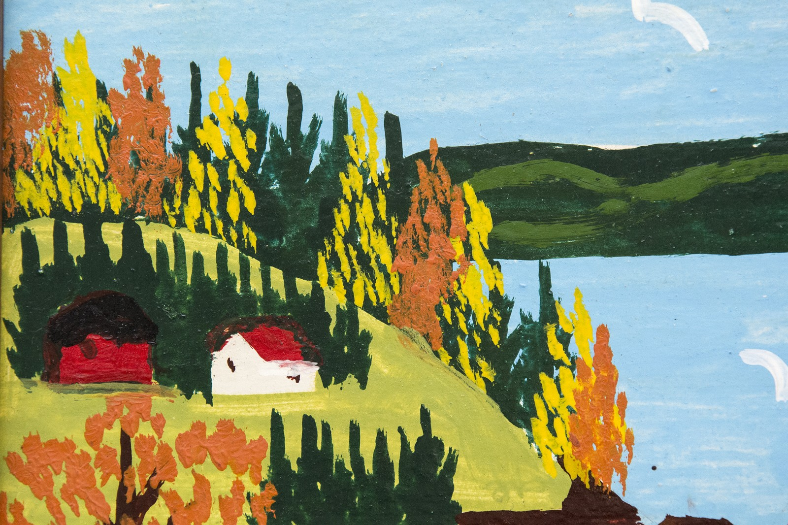 Sandy Cove With Fall Colours by Maud Lewis » Oeno Gallery